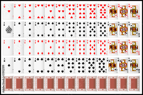 Fotografie, Obraz Complete set of Playing Card