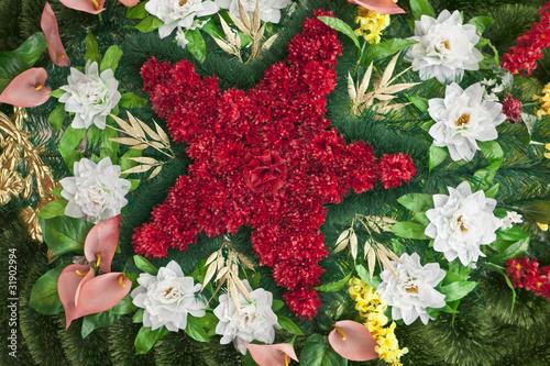COLORFUL FLOWER ARRANGEMENT, floristic composition. Canvas Print