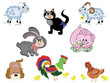 Farm animals,set