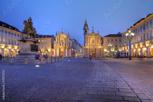 Photo  San Carlo Square in Turin/Torino, Italy