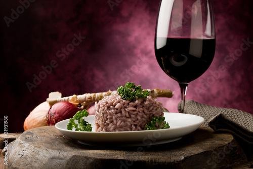 Foto Risotto mit Rotwein