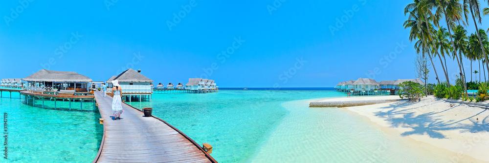 Fototapeta Maldives island Panorama