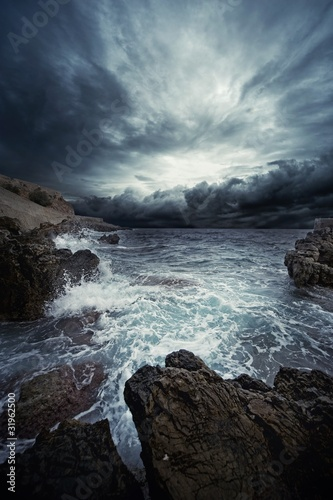 Staande foto Onweer Ocean storm