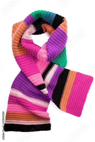Fotografie, Obraz  Striped knit scarf