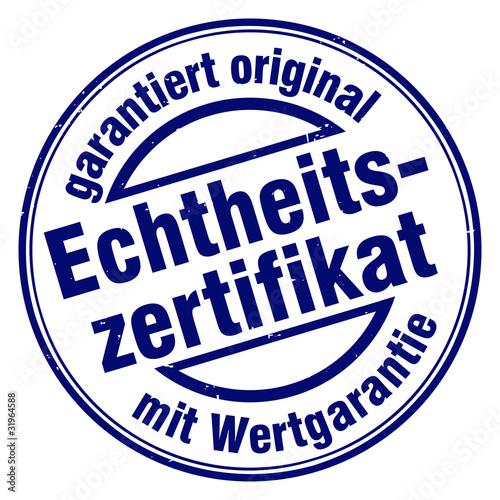 echtheitszertifikat garantiert original mit wertgararntie - Buy this ...