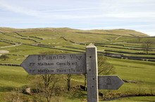 Signpost For Pennine Way Near ...