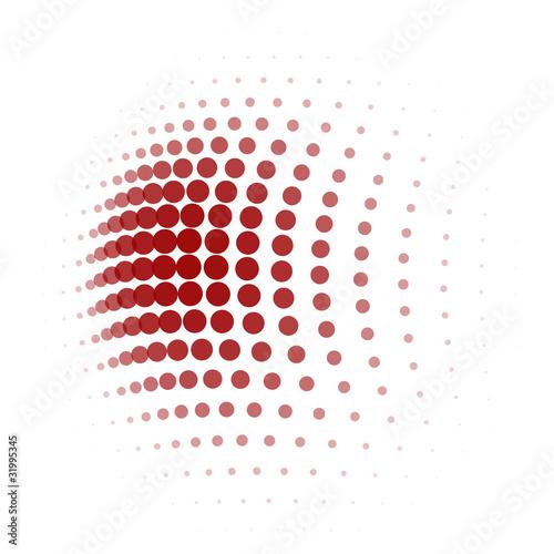 Obraz na plátně  abstrakter hintergrund punkteraster
