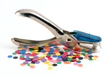 Single Hole Paper Punch With Confetti