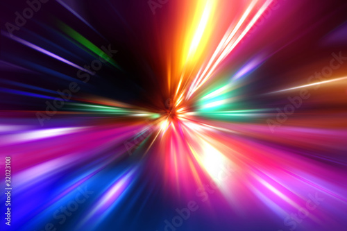 Photo abstract acceleration speed motion on night road