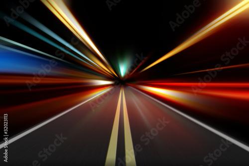 Fotomural  night road
