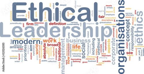 Fotografie, Obraz  Ethical leadership background concept