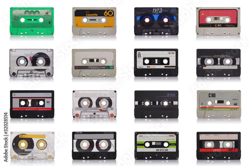 Canvas Print retro music cassette