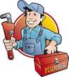 plumber vector badge