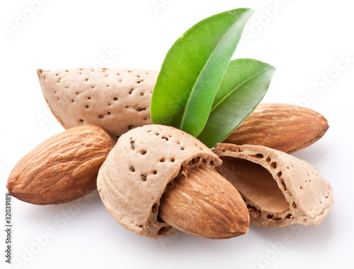 Group of almond nuts. Wallpaper Mural