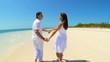 Caucasian Couple on Dream Vacation Island