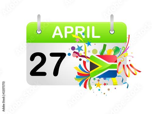 Fotografia  Holiday Calendar South Africa National Day