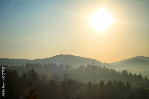 Deurstickers Bergen Carpathian Mountains