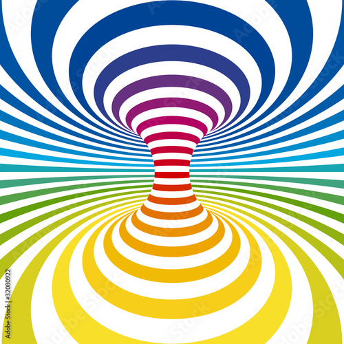 Poster Psychedelique Striped background