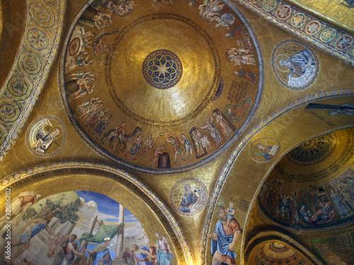Interior of St Mark s Basilica Venice Italy Canvas Print