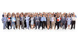 canvas print picture - big group of business people. Isolated over white