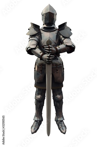 Photo  Fifteenth Century Medieval Knight with Sword
