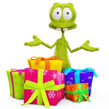 Alien Cartoon In I Got A Little Gift For You