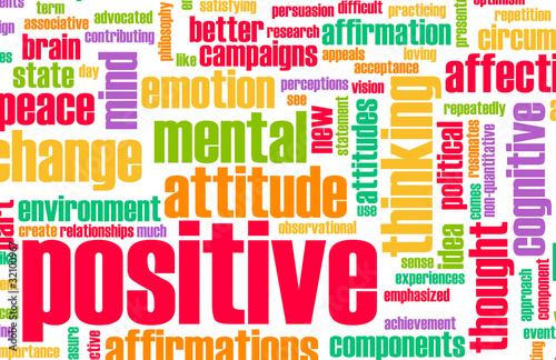 Thinking Positive Billede på lærred