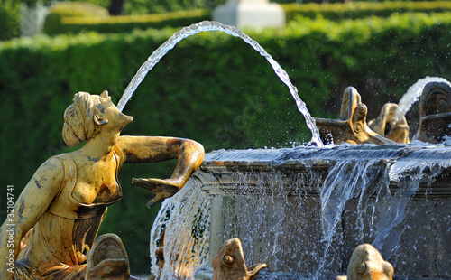 Staande foto Fontaine parc de versailles