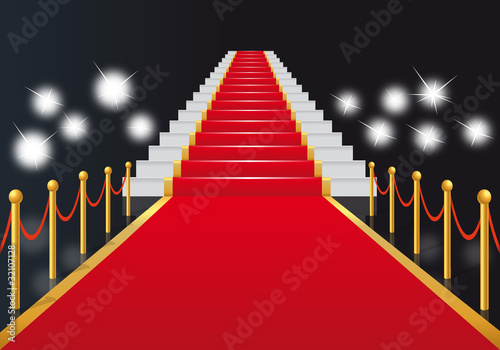 Escalier Tapis Rouge Cinema Gloire Star Films