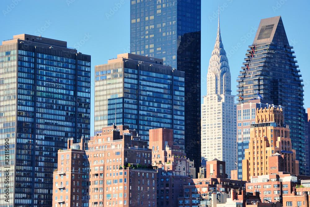 Fototapety, obrazy: Midtown Manhattan Skyscrapers