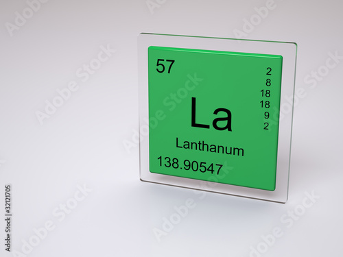 Lanthanum Symbol La Chemical Element Of The Periodic Table Buy