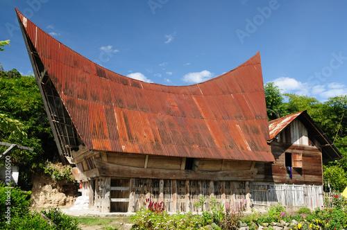 Photo Indonesia, North Sumatra, Danau Toba, Batak house