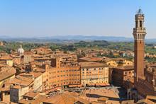 Piazza Del Campo With Palazzo ...