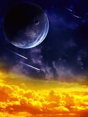 Fototapeta deszcze meteorów