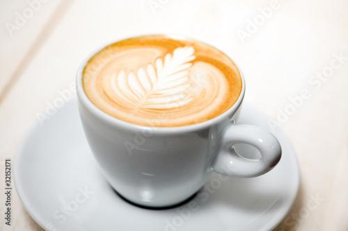 Fotografie, Obraz  Latte Art - Farnblatt