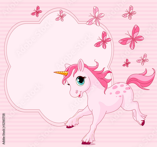 Baby unicorn place card