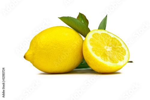 Cytryny z liściem #007