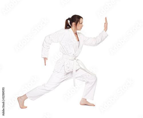 Deurstickers Vechtsport karate girl