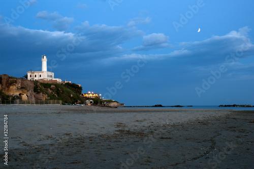 Anzio's lighthouse night view Canvas Print