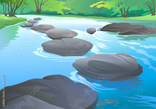 Canvas Prints River, lake FRESH WATER STREAM IN TROPICAL FOREST
