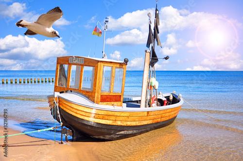 Obraz Ostseekutter auf Usedom - fototapety do salonu