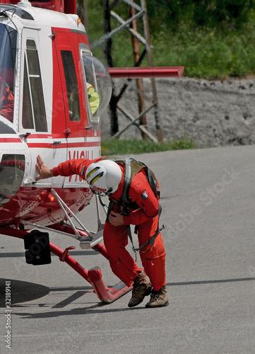 Fotografia  helicopter rescue