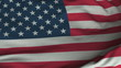 Seamless Waving American Flag with Fabric Texture