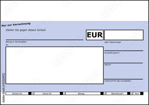 Scheckformular (z.B. für Spendenübergaben) – kaufen Sie diese ...