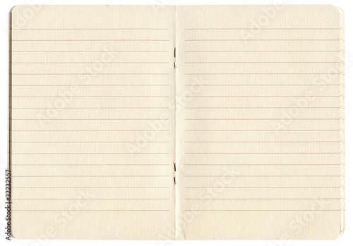 Fotografie, Obraz  blank lined exercise book