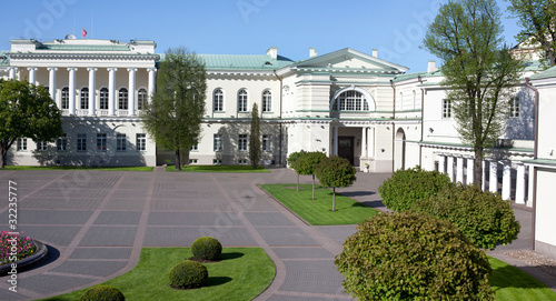 Poster Artistique The Presidential Palace in Vilnius