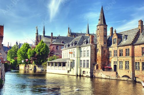 Deurstickers Brugge HDR de Bruges