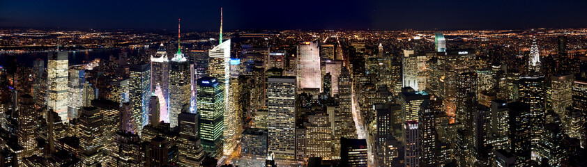 Fototapeta Panorama Miasta Manhattan by night