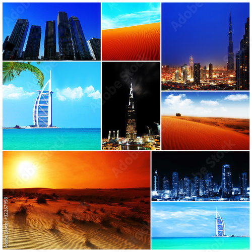 фотография  Collage of United Arab Emirates images