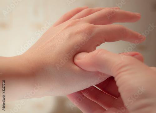 accupressure self-massage Canvas Print